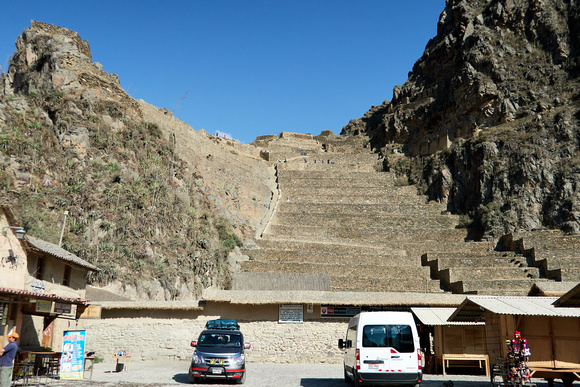 Temple Hill of Ollantaytambo, built by Pachacuti